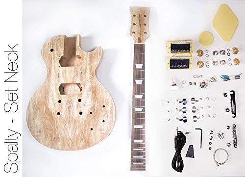 Spalted Maple LP Guitar - DIY Build Your Own Guitar Kit