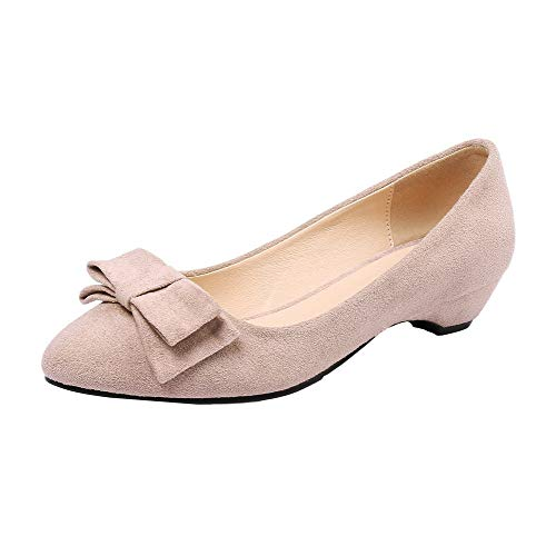 Ballet Rosa AllhqFashion Flats Basso Trafilatura Tacco Donna FBUIDD008383 Punta Tonda xx6SqBwT