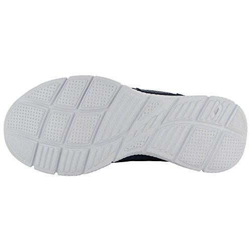 Skechers Womens Equalizzatore Running Shoe Navy / Turchese