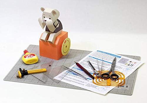 BAR ✨Barbee✨Karakuri Action Paper Craft Mechanical Moving Papertoy Paper Models Building Toys Kit Sumo Game