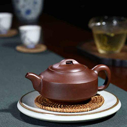 Tea Cozies Pure Handmade teapot Large Capacity Kung Fu Tea Set Tao Jian Hanjun Pot (Color : Brown, Size : 15.29.58cm) by Tea Cozies (Image #4)