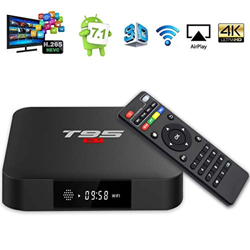 YAGALA T95 S1 Android 7.1 TV Box 1GB RAM 8GB ROM Amlogic S905W Quad core cortex-A53 Processor 2.4Ghz WiFi H.265 HDMI 2.0…