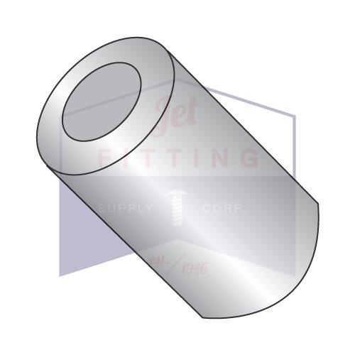 1/2'' OD Round Spacers / #12 x 1/4'' / Aluminum / Outer Diameter: 1/2'' | Hole Size: #12 | Length: 1/4'' (QUANTITY: 1,000 pcs)