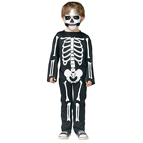 Scary Skeleton Toddler Costume Small 24 Months -2T