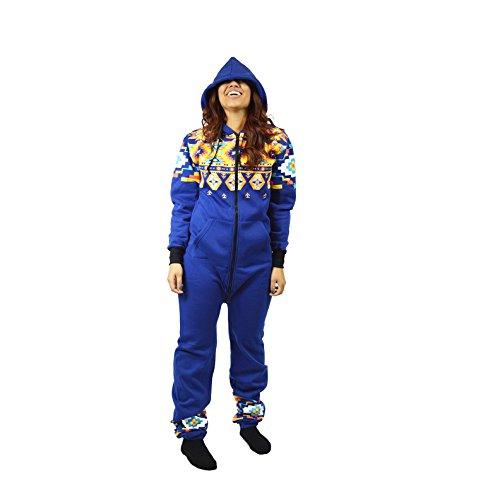 Hooded Onesie Jumpsuit with Zippered Drop Seat Bottom (Medium)