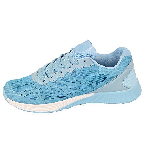 Baskets Lacets Femmes Ly3311 À Sky Belide Chaussures Gym Maille Course qAwfa