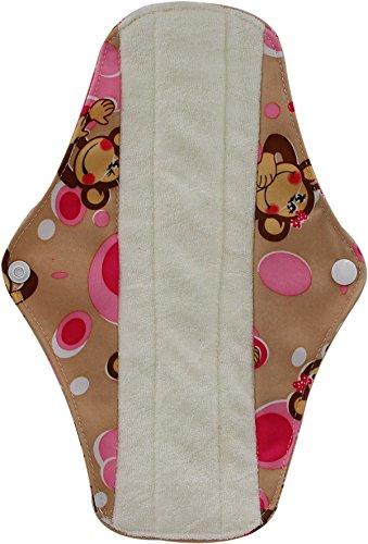 para mujeres y estuche para toallitas h/úmedas; de OHBABYKA reutilizables Compresas sanitarias de bamb/ú