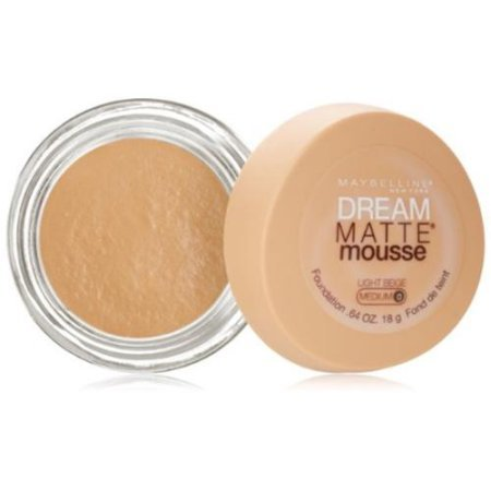 Maybelline Dream Matte Mousse Foundation, Light Beige [0], 0.64 oz (Pack of 2)