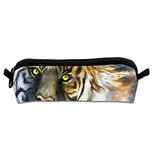 Jingloe Cool Tiger Pencil Case 3D Zipper Pencil Bag Holder Pen Box Organizer Stationery for Kids Students ()