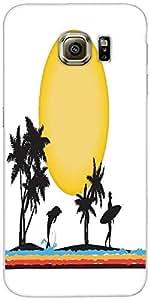 Snoogg Tropical Ilustración Diseñador Protectora Volver Funda Para Samsung Ga...