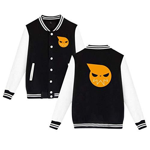 Selipenchin Soul Eater Logo Men & Womens Unisex Cool Baseball Uniform Jacket Hoodie XXS