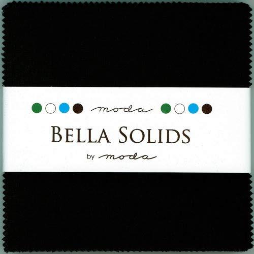 Bella Solids Blacks Moda Charm Pack By Moda