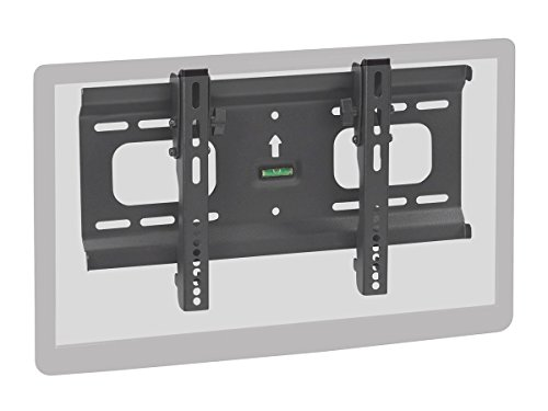 Monoprice Stable Series Ultra Slim Tilt TV Wall Mount Bracket - Black For LCD LED Plasma Screen Display TVs 32 Inches to 55 Inches | Max Weight 165 LBS | VESA Up to 400x200 | UL Certified 32 Inch Lcd Display Tv