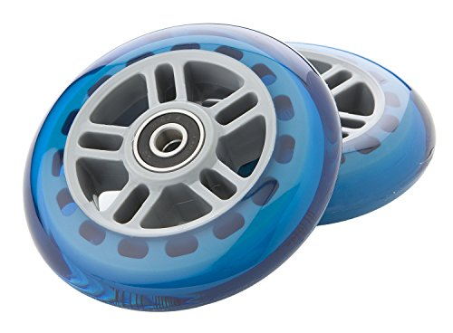 Razor Scooter Replacement Wheels Set with Bearings - Blue ()