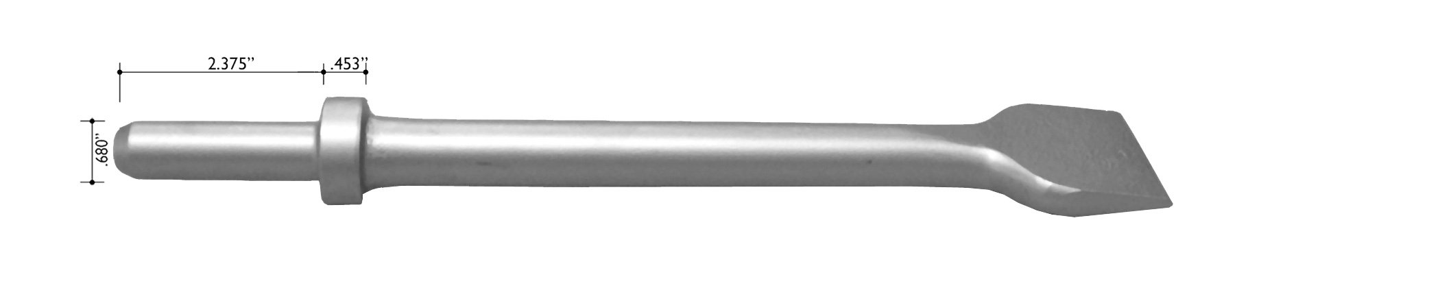 Champion Chisel, 18-Inch Long by 2-Inch Wide .680 Round Shank Round Collar Chipping Hammer Chisel