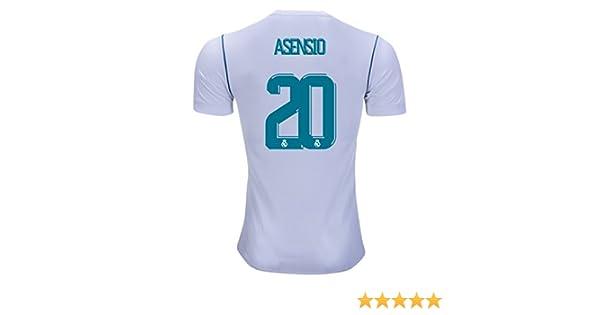 Asensio # 20 Real Madrid 17/18 casa fútbol Jersey hombres de color blanco tamaño M: Amazon.es: Deportes y aire libre