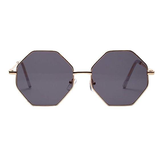 3feeff25dc966a Retro Polarisierte Sonnenbrille Doppelte Kreis Spiegel UV400 Objektiv  Metall Rahmen