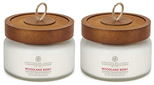 (Chesapeake Bay Candle Heritage Scented Candle, Woodland Berry, Small, 2-Count)