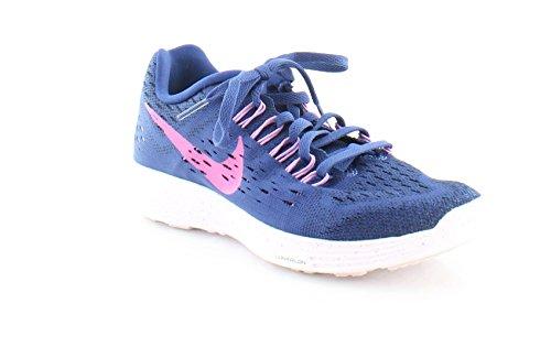 Chaussures De Course Lunaire Tempo Nike Femmes Bleu / Fuchsia Lueur / Violet Clair / Flash Fuchsia