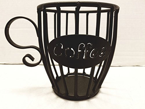 Wrought Iron Kup Keeper Coffee & Espresso Pod Holder, Coffee Mug Storage Basket - Hand Made By Amish Of Lancaster County PA.