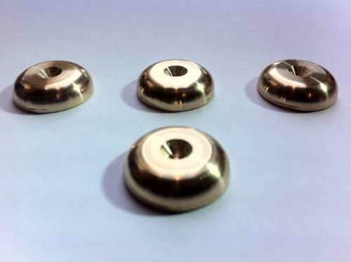 Solid Spikes Set of Four Brass HiFi Speaker Spike Rad Pads (Hi Fi Speakers Standing Floor)