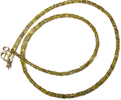 JP_Beads 1 Strand Natural Green Sapphire 3MM Facet Rondelle Bead 17 inch