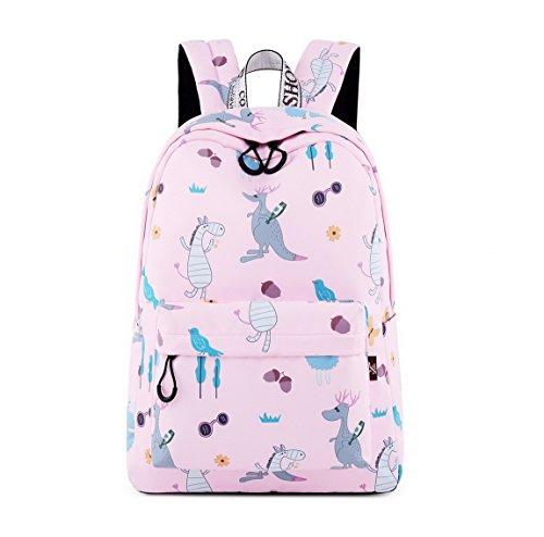 Joymoze Waterproof Fashion Print Backpack Cute School Book Bag for Boy and Girl Kangaroo