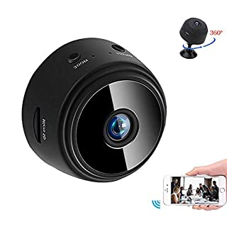 Mini Camera WiFi Home Camera for Baby/Pet/Nanny 1080P HD Indoor WiFi Wireless Security Camera with Motion Detection, Night Vision and Loop-Cycle Recording (32G SD Card Included)