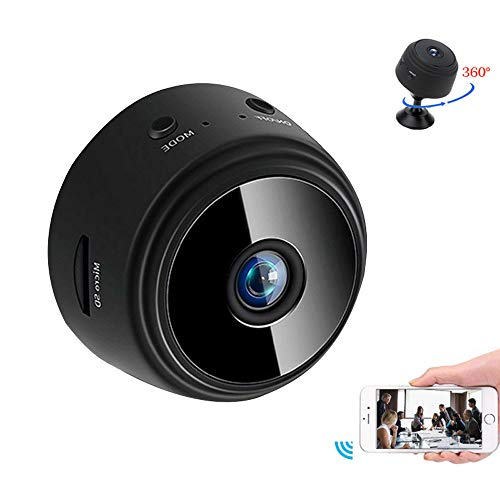NEFRIA Mini Camera WiFi Wireless Video Camera 1080P HD Small Home Security Surveillance Cameras with 32G SD Card,Portable Tiny Nanny Cam with Night Vision Motion Detection for Car Indoor Outdoor 01