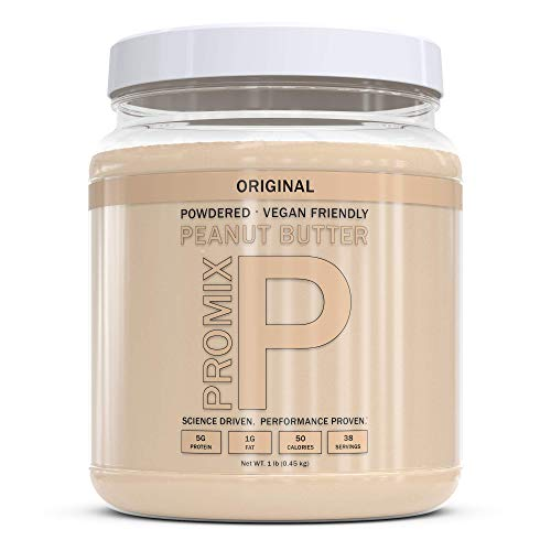 PROMIX Peanut Butter Powder, 1lb   5g Protein, 50 Calories, 38 Servings   Vegan, Natural, Organic, Low Calorie