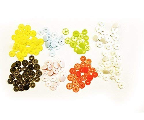 Button Stud Closures Snap Fasteners In 8 Colours 160 Pieces - 10.7Mm Size 16 Kam Snaps T3