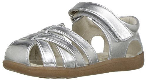 See Kai Run Girls' Camila Sandal, Silver, 5.5 M US Toddler