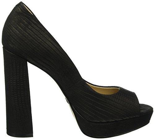 6024 01 Bout Beige Escarpins Zs Noir Buffalo Fermé Femme Minilizard 15 Black 5fqTngPw