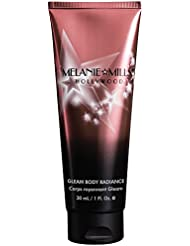 Melanie Mills Hollywood Gleam Body Radiance All In One Makeup, Moisturizer & Glow For Face & Body - Peach Deluxe, 1 fl.oz.