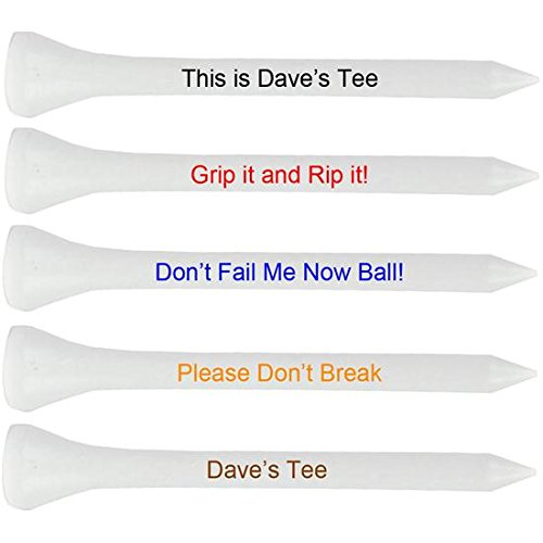 Premium 2 3/4 Inch White Personalized Golf Tees