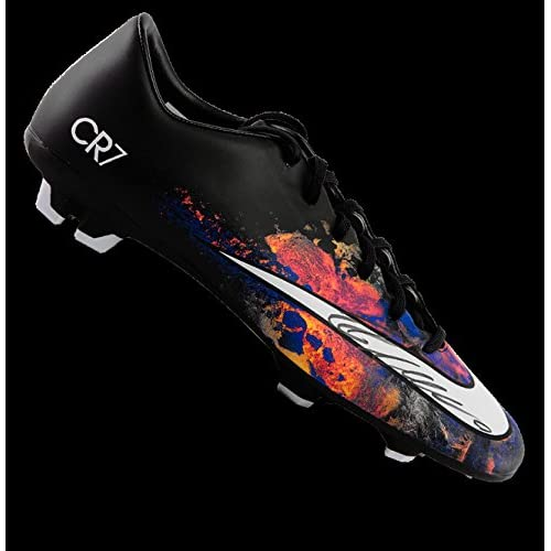 info for 50dcd d073c Cristiano Ronaldo Autographed Black Nike Mercurial Victory V ...