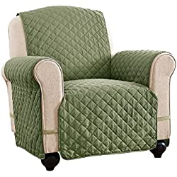 Ultra Deluxe Reversible Furniture Protector Cover, Olive/Sage, Chair