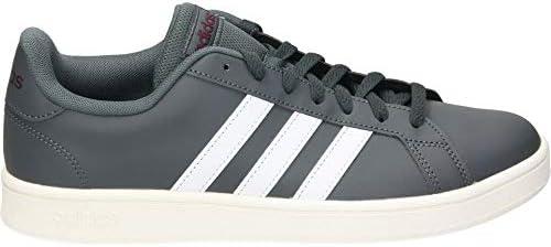 adidas Grand Court Base, Chaussure de Football Homme, Grisei/FTW Bla/Granat, 32 EU