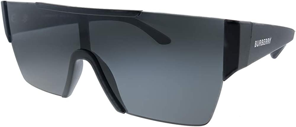 Burberry BE 4291 346487 Matte Black Plastic Rectangle Sunglasses Black Lens
