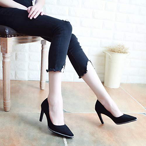 KPHY Pointed Sequins Slim Eight Autumn Heels Banquet Shallow Color High Women'S Thin 8Cm Blue Thirty Fashion Shoes And Shoes rrqfw7P