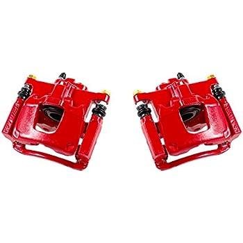 2 CCK12023 REAR Performance Grade Red Powder Coated Semi-Loaded Caliper Assembly Pair Set