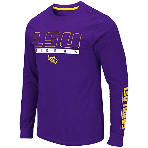 - Colosseum Mens LSU Louisiana State Tigers Guam Long Sleeve Tee Shirt - S