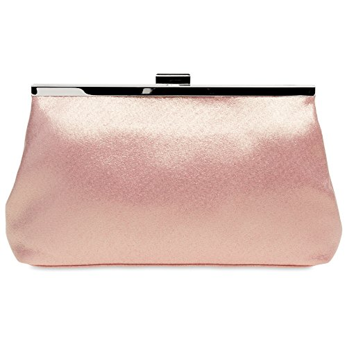Caspar Holiday Clutch Pink Colors Elegant Gold Ta320 With Handbag Womens Design Various Satin 6qn6rZx