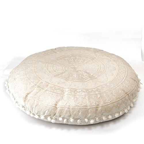 Cozy Seating (Mandala Life ART Bohemian Floor Cushion –Luxury, Artisan Room Décor Pouf for Meditation, Yoga, and Boho Chic Seating Area Floor Pillow – – Handmade in India by)
