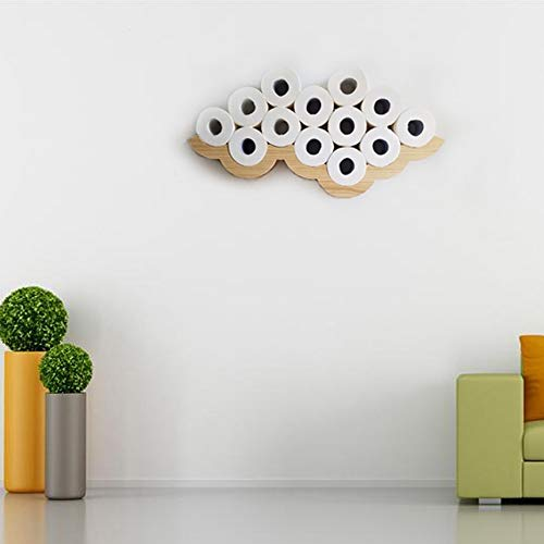 Gecious Cloud Toilet Paper Holder Wall Mount, Wood by Gecious (Image #4)