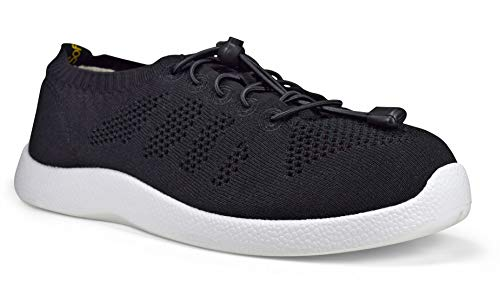 SoftScience The Tradewind Men's Lace-Up Athleisure Shoes - Black/White, Size 9