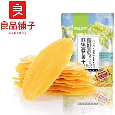 中国名物 おつまみ 大人気 Daben® 良品铺子 菲律宾芒果干水果蜜饯果干果脯休闲零食小吃 48g