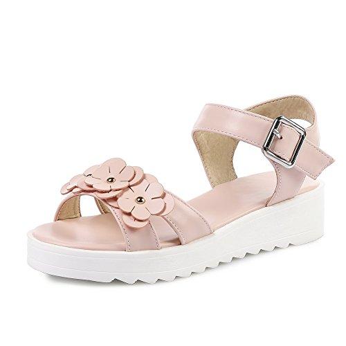 BalaMasa Womens Sandals Dress Light-Weight Urethane Sandals ASL04971 Pink