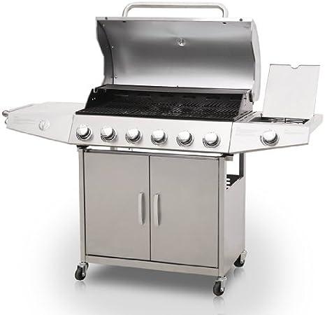 broil master Barbecue à gaz avec 6 brûleurs principaux, en