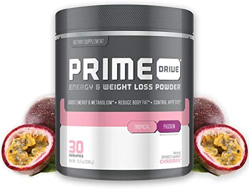 Complete Nutrition Prime Drive Energy & Weight Loss Powder, Tropical Passion, Increase Energy, Boost Metabolism, Fat Burner, Appetite Suppressant, 10.2oz (30 Servings) 1